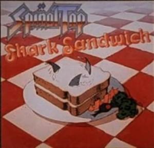 """Portada de """"Shark Sandwich"""", uno de los primeros discos ficcionales de """"Spinal Tap""""."""