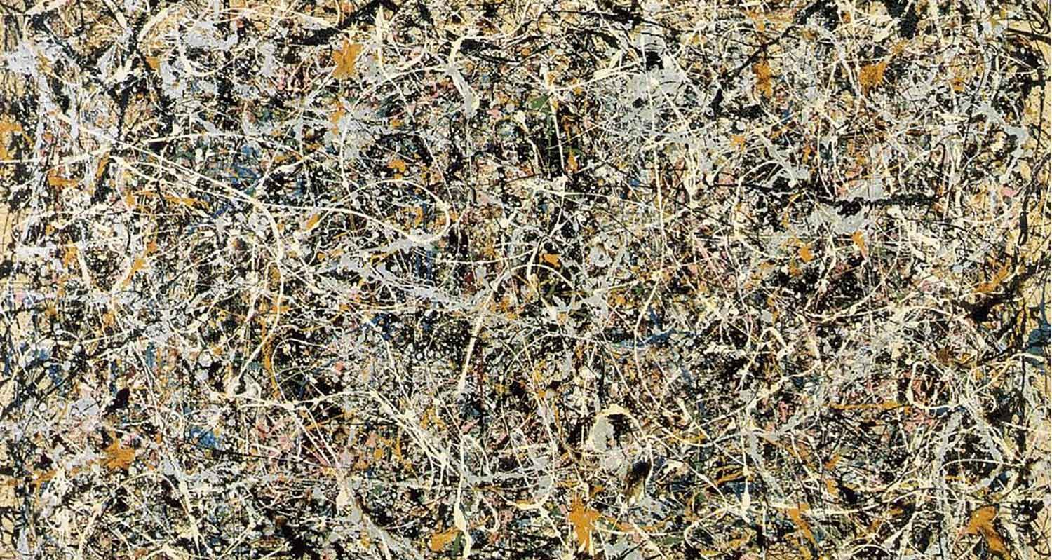 THE WHITE LIGHT, Jackson Pollock, 1954. Cuadro reproducido en la portada de