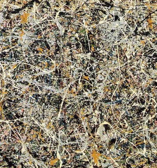 "THE WHITE LIGHT, Jackson Pollock, 1954. Cuadro reproducido en la portada de ""Free Jazz: A Collective Improvisation"", 1960, de Ornette Coleman Double Quartet."
