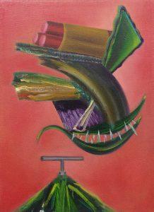 Gorka Mohamed: Dynamite, 2015. Óleo sobre lienzo, 50 x 70 cm.