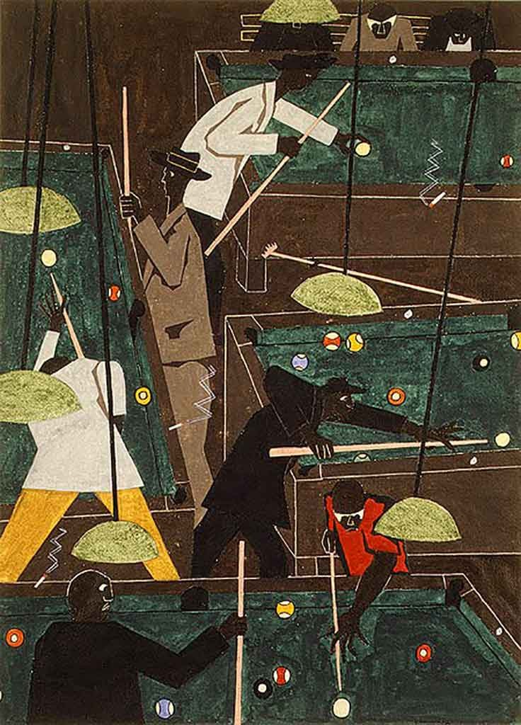 Pool Parlor, 1942, Jacob Lawrence