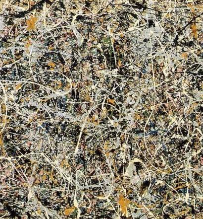 "THE WHITE LIGHT, Jackson Pollock, 1954. Cuadro reproducido en la portada de ""Free Jazz: A Collective Improvisation"", 1960, de Ornette Coleman Double Quartet."