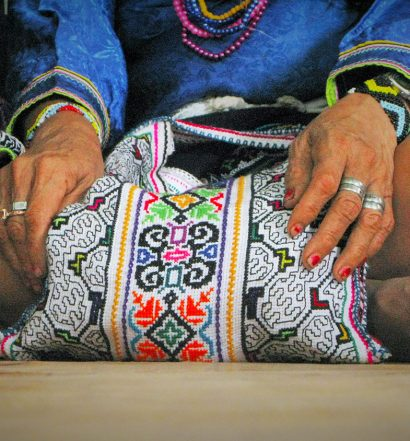 Chitonti, falda artesana shipibo. Foto: Héctor Márquez.