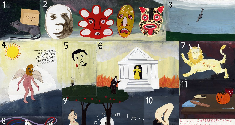 Neil Farber y Michael Dumontier: Dream Interpetations, 2010. Mixta sobre tabla 73,7 x 83,4 cm. Cortesía de Galería Espacio Mínimo (Madrid)