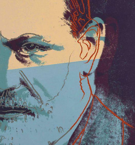 "Sigmund Freud from Andy Warhol's ""Ten Portraits of Jews of the Twentieth Century"""