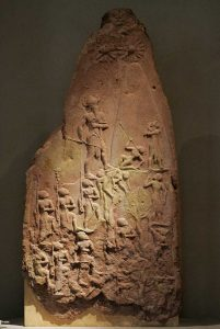 """""""Victory stele of Naram Sin"""" By UnknownRama (RamaOwn work) [<a href=""""http://www.cecill.info/licences/Licence_CeCILL_V2-en.html"""">CeCILL</a> or <a href=""""https://creativecommons.org/licenses/by-sa/2.0/fr/deed.en"""">CC BY-SA 2.0 fr</a>], <a href=""""https://commons.wikimedia.org/wiki/File%3AVictory_stele_of_Naram_Sin_9068.jpg"""">via Wikimedia Commons</a>"""