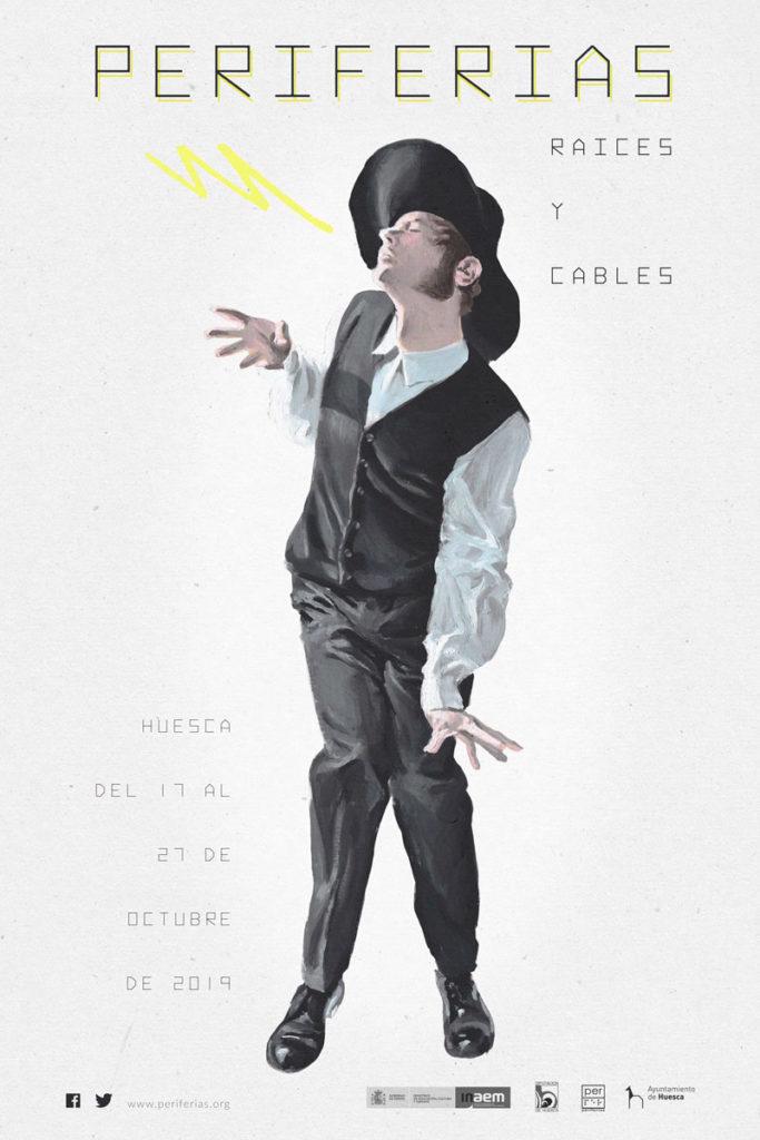 Cartel Periferias 20.0. RAÍCES Y CABLES. Autor: Javier Aquilué